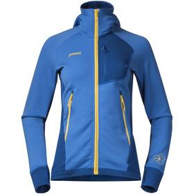 Bergans W's Cecilie Wool Jacket Cloud Blue/Navy/Sun